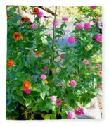 Summer Flowers 13 Fleece Blanket