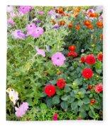 Summer Flowers 3 Fleece Blanket