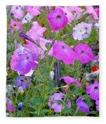 Summer Flowers 8 Fleece Blanket
