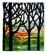Summer Forest Abstract  Fleece Blanket