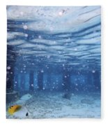 Summer Fun In Maldives Fleece Blanket