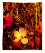 Summer Glow On Flowers Fleece Blanket