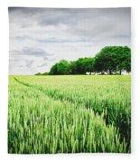 Summer Grains Fleece Blanket
