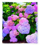 Summer Hydrangeas #2 Fleece Blanket