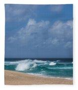 Summer In Hawaii - Banzai Pipeline Beach Fleece Blanket