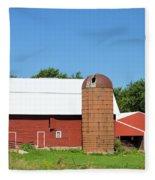 Summer In Iowa Fleece Blanket