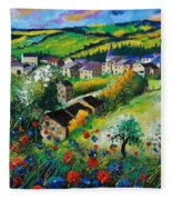 Summer In Rochehaut Fleece Blanket