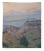 Summer In The Badlands Fleece Blanket