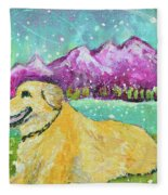 Summer In The Mountains With Summer Snow Fleece Blanket