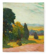 Summer Landscape By John William Beatty Fleece Blanket