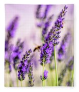 Summer Lavender  Fleece Blanket by Nailia Schwarz