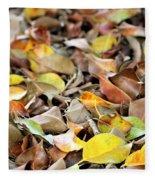Summer Leaves For Fall Fleece Blanket