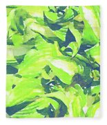 Summer Leaves Fleece Blanket