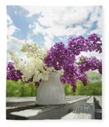 Summer Lilacs Fleece Blanket
