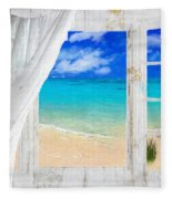 Summer Me Iv Fleece Blanket