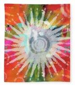 Summer Of Love- Art By Linda Woods Fleece Blanket