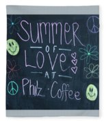 Summer Of Love At Philz Coffee Fleece Blanket