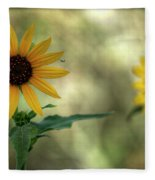 Summer Of Sunflowers  Fleece Blanket