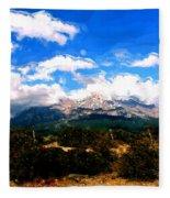 Summer On Mt. Shasta Fleece Blanket