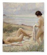 Summer On The Beach Fleece Blanket