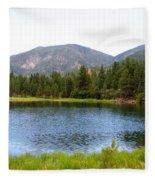 Summer On The Lake Fleece Blanket