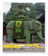 Summer Palace Elephant Fleece Blanket