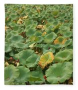 Summer Palace Lotus Pond Fleece Blanket