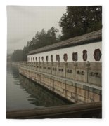 Summer Palace Pond With Ornate Balustrades Fleece Blanket