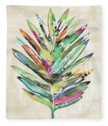 Summer Palm Leaf- Art By Linda Woods Fleece Blanket