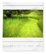 Summer Path And Tree Poster Fleece Blanket