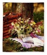 Summer Picnic Fleece Blanket