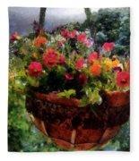 Summer Picture Window Fleece Blanket
