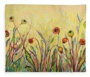 Summer Poppies Fleece Blanket