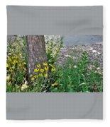 Summer River Bank View             July            Indiana Fleece Blanket