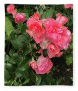 Summer Roses  Fleece Blanket