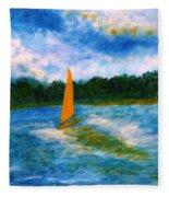 Summer Sailing Fleece Blanket