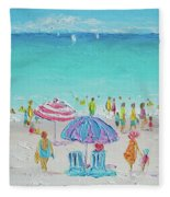 Summer Scene Diptych 1 Fleece Blanket