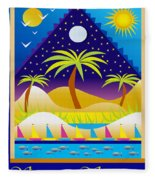 Summer Serenity Fleece Blanket