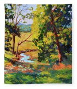 Summer Shadows Fleece Blanket