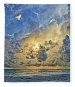 Summer Storms In The Gulf Fleece Blanket
