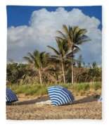 Summer Stripes Fleece Blanket