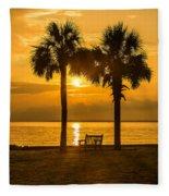 Summer Sunrise - Charleston Sc Fleece Blanket