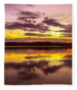 Summer Sunset 1 Fleece Blanket