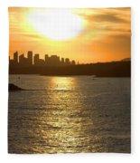Summer Sunset In Sydney Fleece Blanket