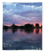 Summer Sunset On Yakima River 4 Fleece Blanket