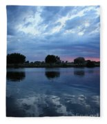 Summer Sunset On Yakima River 5 Fleece Blanket