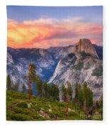 Summer Sunset Fleece Blanket
