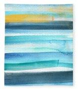 Summer Surf 2- Art By Linda Woods Fleece Blanket