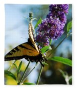 Summer Swallowtail Fleece Blanket