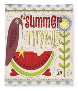 Summer Thyme-jp2832 Fleece Blanket
